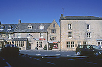 Stow on the Wold:  Gloucestershire. Founded mid-11th Century by Abbot of Evesham. The Marketplace above. Photo '05.