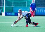 AMSTELVEEN - Teun Rohof (Adam)   tijdens  de hoofdklasse competitiewedstrijd hockey heren,  Amsterdam-SCHC (3-1).  COPYRIGHT KOEN SUYK