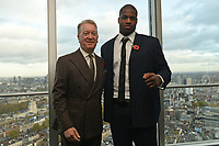 Frank Warren and Daniel Dubois during a Press Conference at the BT Tower on 11th November 2019