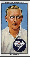 BNPS.co.uk (01202 558833)<br /> Pic: Pen&amp;Sword/BNPS<br /> <br /> England cricketer Hedley Verity who took 15 wickets in the 2nd test match for the Ashes against Australia at Lords in June 1934, he served in the 1st Battalion Yorkshire Regiment and died 31 July 1943.<br /> <br /> The tragic stories of the 10 test players and 130 first class cricketers who lost their lives in the Second World War are told in a fascinating new book.<br /> <br /> The outbreak of the war prompted cricketers to swap their whites for uniform and pitch up at the various battlegrounds of the conflict to do their duty.<br /> <br /> Many cricketers excelled themselves in combat - distinguishing themselves with their bravery and their intelligence.<br /> <br /> In The Coming Storm, screenwriter Nigel McCrery reveals each man's career details, including cricketing statistics and the circumstances of death.
