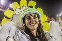 Rio de Janeiro (RJ), 21/02/2020 CARNAVAL - RJ - DESFILE - Desfile das escolas de samba  Academicos dA Rocinha, da Serie A, nesta sexta-feira (21), no sambodromo, no centro do Rio de Janeiro (RJ). Na foto: a rainha de bateria Egri Oliveira. (Foto: Ellan Lustosa/Codigo 19/Codigo 19)