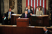 Washington, DC - March 4, 2009 -- The Right Honorable Gordon Brown, M.P., Prime Minister of the United Kingdom, addresses a Joint Session of the United States Congress in the U.S. Capitol in Washington, D.C. on Wednesday, March 4, 2009.  Vice President Joseph Biden and Speaker of the House Nancy Pelosi (Democrat of California) look on..Credit: Ron Sachs / CNP