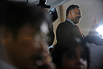 Jesse Jackson, a former candidate for U.S. president, stands among the media on the press risers at Barack Obama's election night rally in Grant, Park in Chicago, Illinois on November 4, 2008.