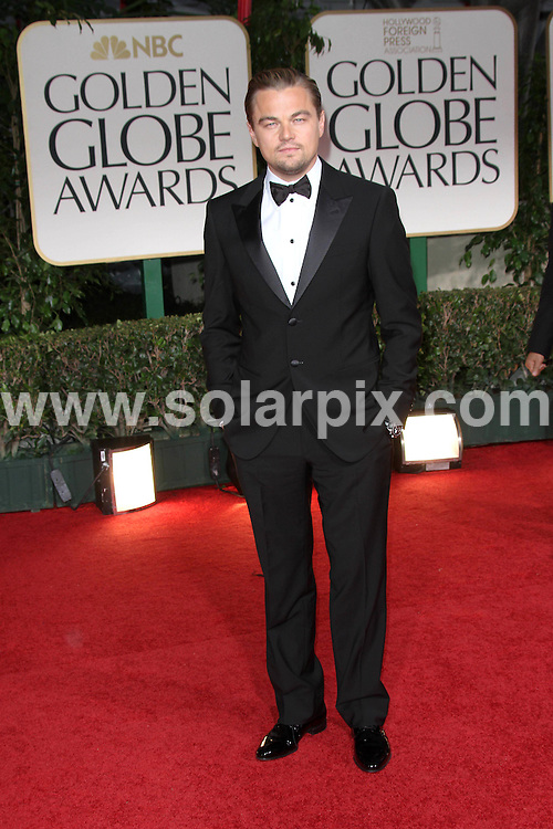**ALL ROUND PICTURES FROM SOLARPIX.COM**                                             **SYNDICATION RIGHTS FOR UK, AUSTRALIA, DENMARK, PORTUGAL, S. AFRICA, SPAIN & DUBAI (U.A.E) & ASIA (EXCLUDING JAPAN) ONLY**                                                                                  Caption: 69th Annual Golden Globe Awards - Press Room at The Beverly Hilton Hotel - Beverly Hills, CA, USA                                                                              This pic:Leonardo DiCaprio                                             .JOB REF: 14363       PHZ       DATE: 15.01.2012                                                           **MUST CREDIT SOLARPIX.COM OR DOUBLE FEE WILL BE CHARGED**                                                                      **MUST AGREE FEE BEFORE ONLINE USAGE**                               **CALL US ON: +34 952 811 768 or LOW RATE FROM UK 0844 617 7637**