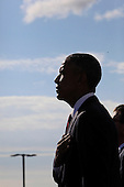 United States President Barack Obama attends the Pentagon Memorial in Washington, DC during an observance ceremony to commemorate the 15th anniversary of the 9/11 terrorist attacks, Sunday, September 11, 2016.<br /> Credit: Dennis Brack / Pool via CNP