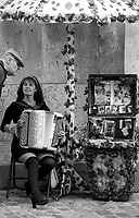 09.2001 <br /> <br /> Severine playing accordeon in Monmartre near holly heart church.<br /> <br /> Severine jouant de l'accordeon a Montmartre pr&egrave;s du sacr&eacute; coeur.
