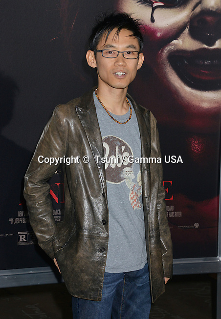 James Wan - producer at the Annabelle Premiere at the TCL Chinese Theatre in Los Angeles.
