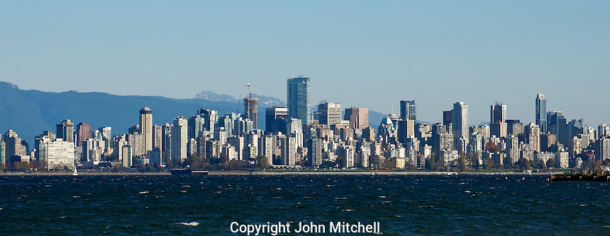 Vancouver skyline from Jericho Beach, Vancouver, British Columbia, Canada