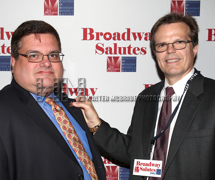David Gersten & Mark Schweppe attending the 'Broadway Salutes' honoring those who make Broadway Great at the Timers Square Visitors Center in Times Square,  New York City on 9/20/2012.