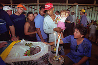 "Altamira,Brazil - Transamazonica - 26.08.2001.Agricultures, collegues and friends mourne the body of the assasined Trade Union leader ""Dema"", durning funeral celebration..Photo: Paulo Amorim"