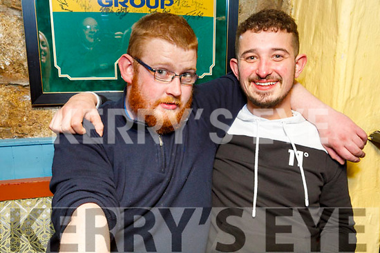 Chris Mahoney and Maurice Fealy enjoying the evening in Sean Óg's Bar on Friday