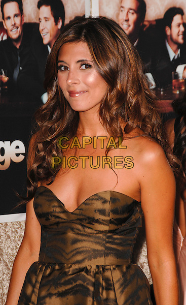 "JAMIE-LYNN SIGLER.The Los Angeles Premiere of the HBO Original Series ""Entourage"", 6th Season held at Paramount Studios in Hollywood, California, USA. .July 9th, 2009 .half length black brown gold strapless zebra animal print pattern dress .CAP/ROT.©Lee Roth/Roth Stock/Capital Pictures"