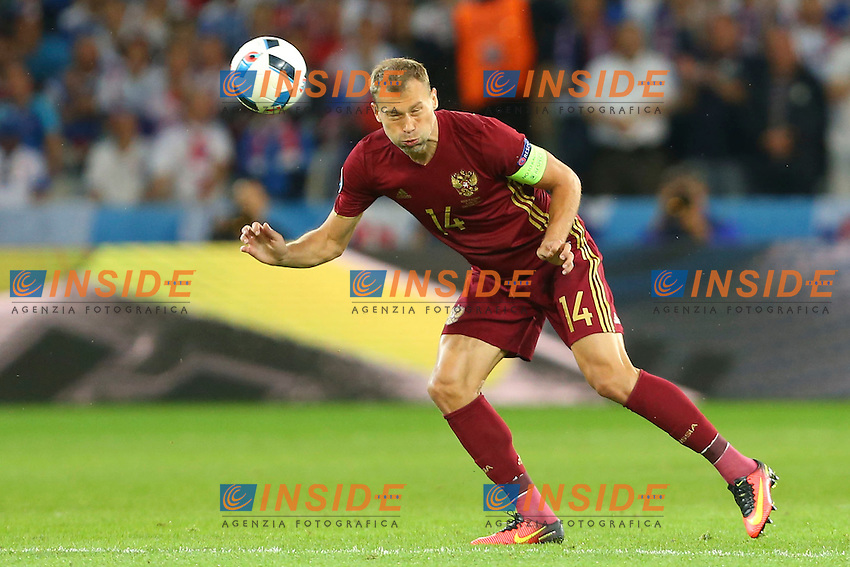 Vasili Berezutski (Russia)<br /> Lille 15-06-2016 Stade Pierre Mauroy Footballl Euro2016 Russia - Slovakia / Russia - Slovacchia Group Stage Group B. Foto Gwendoline Le Goff / Panoramic / Insidefoto