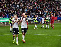Bolton Wanderers' Liam Edwards (right) and Ronan Darcy applaud the crowd at the end of the match<br /> <br /> Photographer Andrew Kearns/CameraSport<br /> <br /> The EFL Sky Bet Championship - Bolton Wanderers v Coventry City - Saturday 10th August 2019 - University of Bolton Stadium - Bolton<br /> <br /> World Copyright © 2019 CameraSport. All rights reserved. 43 Linden Ave. Countesthorpe. Leicester. England. LE8 5PG - Tel: +44 (0) 116 277 4147 - admin@camerasport.com - www.camerasport.com