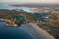 Good Harbor beach, aerial view, Gloucester, MA