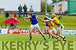 Maurice O'Connor and Robert Collins Kilmoyley in action against Michael Conway Lixnaw in the Kerry County Senior Hurling championship Final between Kilmoyley and Lixnaw at Austin Stack Park on Sunday.