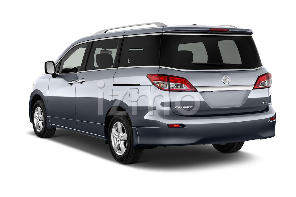 Car pictures of rear three quarter view of2015 Nissan Quest SV 5 Door Minivan Angular Rear