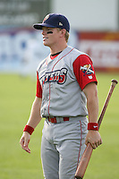 June 27th 2008:  Infielder Bryan Frew (9) of the Williamsport Crosscutters, Class-A affiliate of the Pittsburgh Pirates, during a game at Russell Diethrick Park in Jamestown, NY.  Photo by:  Mike Janes/Four Seam Images