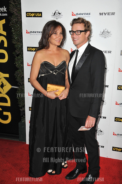 Simon Baker & Rebecca Rigg at the 2011 G'Day USA Black Tie Gala at the Hollywood Palladium..January 22, 2011  Los Angeles, CA.Picture: Paul Smith / Featureflash
