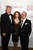 Robert E Wankel, Bernadette Peters and Joel Grey attend the New York Landmarks Conservancy's 22nd Living Landmarks Gala on November 5, 2015 at The Plaza Hotel in New York, New York. USA<br /> <br /> photo by Robin Platzer/Twin Images<br />  <br /> phone number 212-935-0770