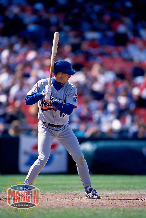 SAN FRANCISCO, CA - Jeff Kent of the New York Mets in action during a game against the San Francisco Giants at Candlestick Park in San Francisco, California in 1994. Photo by Brad Mangin