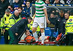 11.3.2018: Rangers v Celtic:<br /> David Bates stretchered off