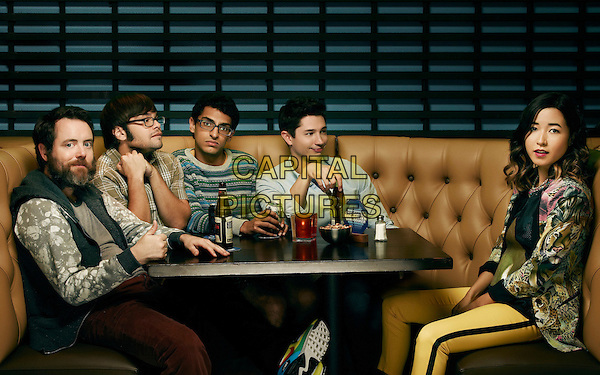 Jon Daly, Charlie Saxton, Karan Soni, Joe Dinicol, Maya Erskine<br /> in Betas (2013)<br /> *Filmstill - Editorial Use Only*<br /> CAP/FB<br /> Image supplied by Capital Pictures