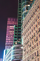 AVAILABLE FROM JEFF AS A FINE ART PRINT.<br /> <br /> AVAILABLE FROM JEFF FOR COMMERCIAL/EDITORIAL LICENSING.<br /> <br /> Cityscape - Old and New Commercial Buildings on Broadway near Times Square in Midtown Manhattan, New York City, New York State, USA