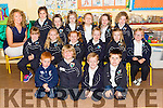 Ms.Caroline Corridan's Junior Infants from Glenderry N.S Ballyheigue first day on Tuesday. Pictured front l-r Jay Flahive, Oran Cantillon, Tadhg O'regan, Maurice Reidy. Middle L-r Ciara Keane, Ella Casey, Aoibhin Corridon, Chloe Baily, Eabha-May Horgan, Tess O'Sullivan. Back l-r Caroline Corridan, (class Teacher), Casey Goggin, Zoe Barry, Molly Duggan, Sarah Quille, Jane Barry, Ruth Kenny