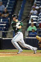 Daytona Tortugas catcher Joe Hudson (8) at bat during a game against the Tampa Yankees on April 24, 2015 at George M. Steinbrenner Field in Tampa, Florida.  Tampa defeated Daytona 12-7.  (Mike Janes/Four Seam Images)