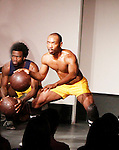 Ade Otukoya & Lamar Cheston - Layon Gray's Kings of Harlem - a story about the Harlem Rens who were one of the dominant basketball teams of the 1920's and 1930's - had a special show on September 15, 2015 at St. Luke's Theatre, New York City, New York. The play stars Melvin Huffnagle, Thaddeus Daniels, Ade Otukoya, Lamar Cheston, Delano Barbosa, Jeantique Oriol and Layon Gray.  (Photo by Sue Coflin/Max Photos)