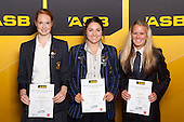 Girls Hockey finalists Sarah Matthews, Danielle Sutherland and Erin Goad. ASB College Sport Young Sportsperson of the Year Awards held at Eden Park, Auckland, on November 24th 2011.