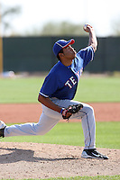 Edwin Escobar, Texas Rangers minor league spring training..Photo by:  Bill Mitchell/Four Seam Images.