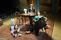 London, UK. 07.04.2014. THREE SISTERS by Anton Chekhov, opena at Southwark Playhouse. Picture shows: Holliday Grainger (Irina), Olivia Hallinan (Olga) and Emily Taaffe (Masha). Photograph © Jane Hobson.