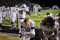 NWA Democrat-Gazette/CHARLIE KAIJO Bentonville West High School players pray during a football game, Friday, November 2, 2018 at Bentonville High School in Bentonville.