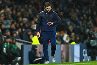 9th November 2019; Tottenham Hotspur Stadium, London, England; English Premier League Football, Tottenham Hotspur versus Sheffield United; Tottenham Hotspur Manager Mauricio Pochettino check his watch for the added time - Strictly Editorial Use Only. No use with unauthorized audio, video, data, fixture lists, club/league logos or 'live' services. Online in-match use limited to 120 images, no video emulation. No use in betting, games or single club/league/player publications