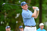 Ernie Els (RSA) watches his tee shot on 5 during Friday's round 2 of the PGA Championship at the Quail Hollow Club in Charlotte, North Carolina. 8/11/2017.<br /> Picture: Golffile | Ken Murray<br /> <br /> <br /> All photo usage must carry mandatory copyright credit (&copy; Golffile | Ken Murray)