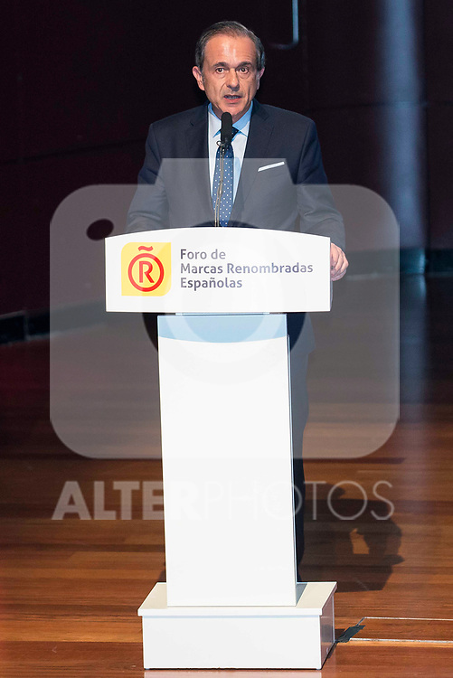 Antonio Abril during the delivery of the accreditations to the new ambassadors of the Marca España 2017 at Reina Sofia Museum in Madrid. March 14, 2017. (ALTERPHOTOS/Borja B.Hojas)