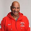 Coach Gordon Thomas of Amityville poses for a portrait during Newsday's All-Long Island boys basketball photo shoot at company headquarters in Melville on Monday, March 26, 2018.