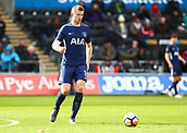 17th March 2018, Liberty Stadium, Swansea, Wales; FA Cup football, quarter-final, Swansea City versus Tottenham Hotspur; Eric Dier of Tottenham Hotspur with the ball