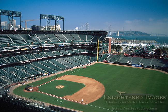 AT&T Park, San Francisco, California - Professional Baseball Stadium empty.