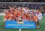 AMSTELVEEN - BLOEMENDAAL JB1 wint de titel Jongens  B. finales A en B jeugd  Nederlands Kampioenschap.  COPYRIGHT KOEN SUYK
