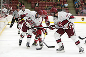 Ryan Donato (Harvard - 16), Mike Marnell (SLU - 26), Lewis Zerter-Gossage (Harvard - 77) - The Harvard University Crimson defeated the St. Lawrence University Saints 6-3 (EN) to clinch the ECAC playoffs first seed and a share in the regular season championship on senior night, Saturday, February 25, 2017, at Bright-Landry Hockey Center in Boston, Massachusetts.