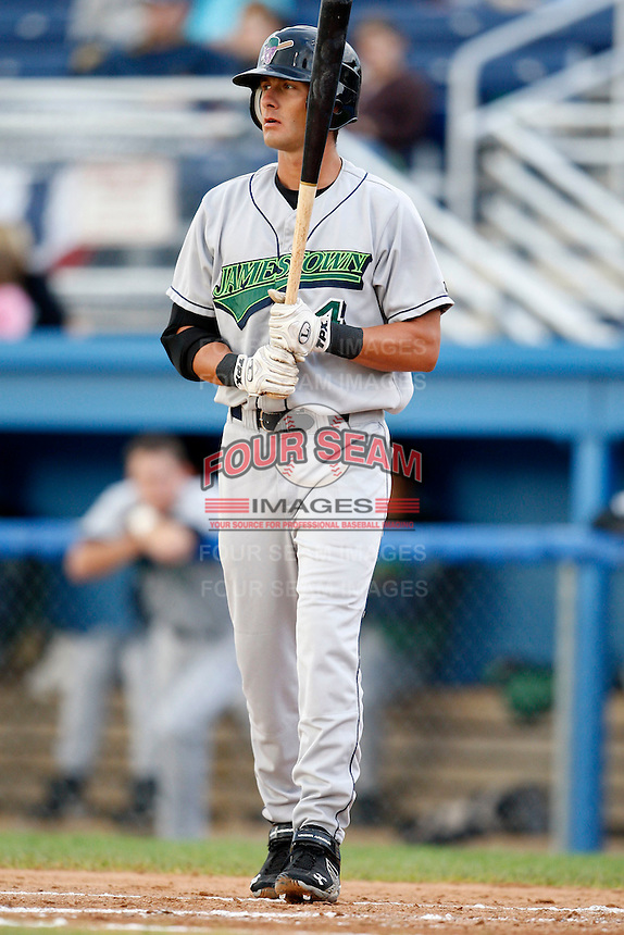 July 3, 2009:  Nate Simon of the Jamestown Jammers at bat during a game at Dwyer Stadium in Batavia, NY.  The Jammers are the NY-Penn League Short-Season Class-A affiliate of the Florida Marlins.  Photo by:  Mike Janes/Four Seam Images