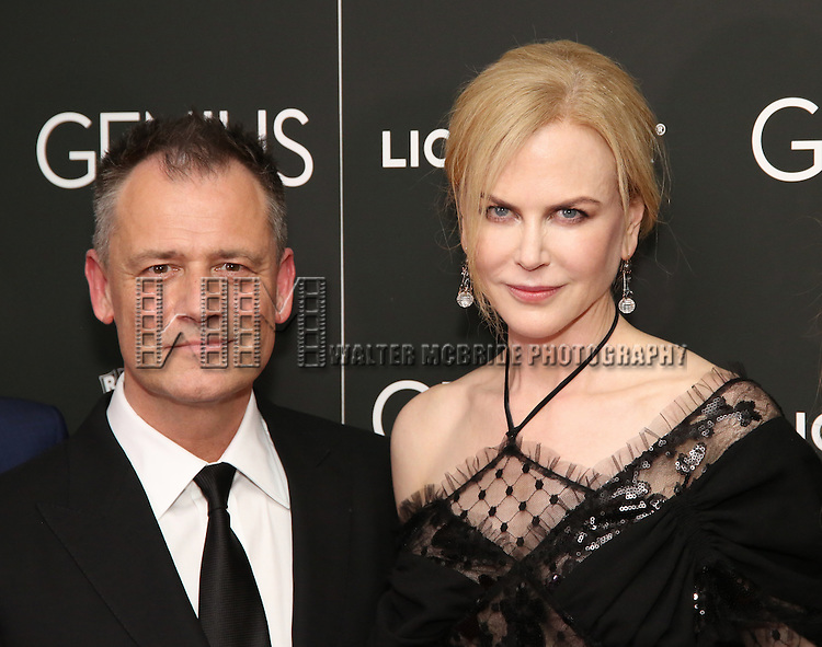 Michael Grandage and Nicole Kidman attends 'Genius' New York premiere at Museum of Modern Art on June 5, 2016 in New York City.