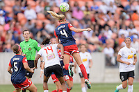 Houston, TX - Sunday Oct. 09, 2016: Whitney Church, Jessica McDonald, Megan Oyster during the National Women's Soccer League (NWSL) Championship match between the Washington Spirit and the Western New York Flash at BBVA Compass Stadium. The Western New York Flash win 3-2 on penalty kicks after playing to a 2-2 tie.