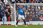 14.09.2019 Rangers v Livingston: James Tavernier celebrates his free kick goal