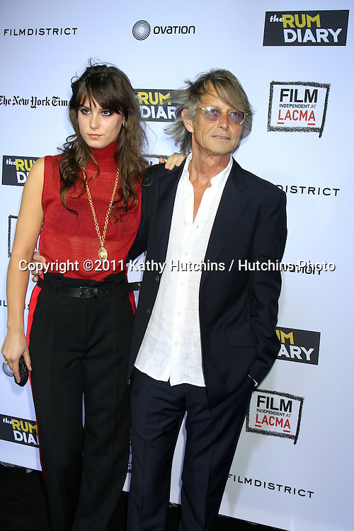 """, Bruce RobinsonLOS ANGELES - OCT 13:  Lily Robinson, Bruce Robinson arriving at the World Premiere of """"The Rum Diary"""" at the LACMA on October 13, 2011 in Los Angeles, CA"""