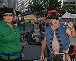 Alli and Sam during the Pirate Crawl in downtown Reno on Saturday, August 17, 2019.