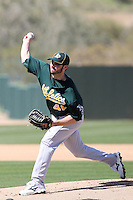 Travis Banwart, Oakland Athletics 2010 minor league spring training..Photo by:  Bill Mitchell/Four Seam Images.